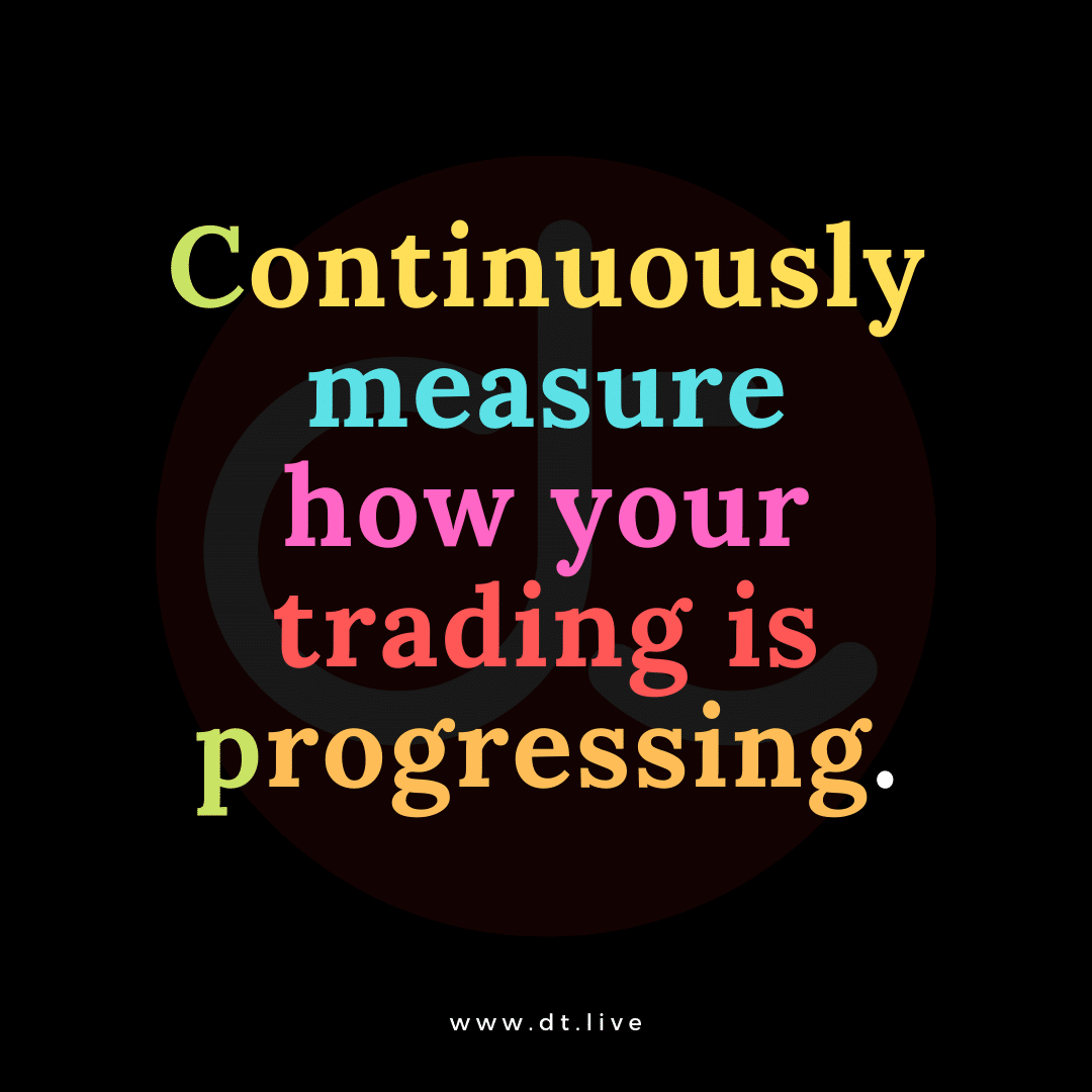 Measuring trading progression