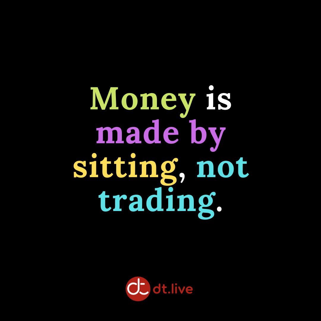 Money is made by sitting, not trading.
